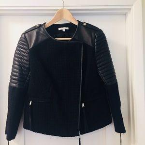 Rebecca Minkoff Lambskin Leather and Wool Jacket